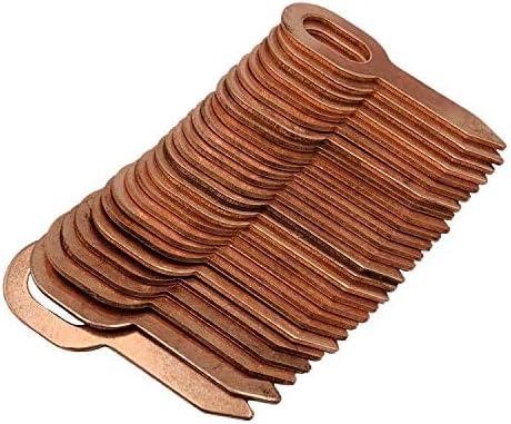 50 piezas de 55,5 mm largo de cobre revestido de acero inoxidable junta de anillo de tracción para panel de soldadura de puntos automotriz