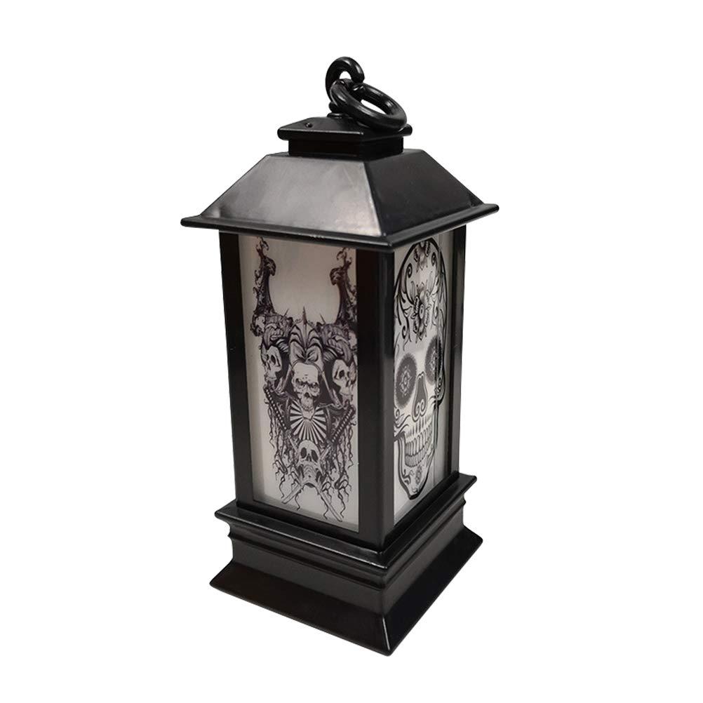 JiuRong Lampada da Lanterna a LED Halloween Lampada da Notte a Sospensione Vintage per la Decorazione Domestica della Barra del ricevimento allaperto