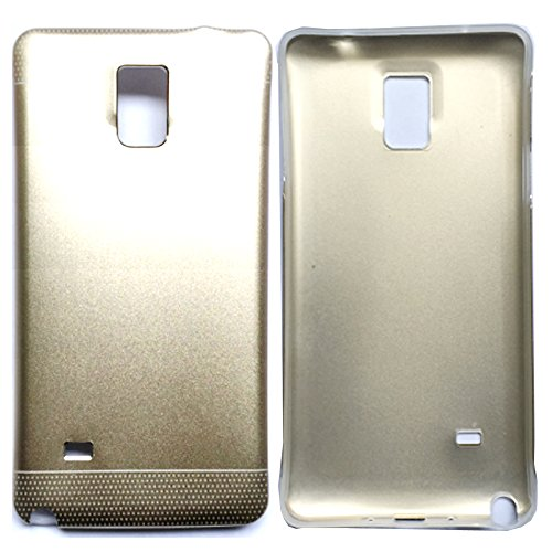 Note 4 Case,Galaxy Note 4 Case,Note 4 2in1 Case,Note 4 Hybrid Case,Galaxy Note 4 Case Cover,Candywe 2in1 Alumiun+PC Hybrid Back Caes Cover For Samsung Galaxy Note 4 Gold