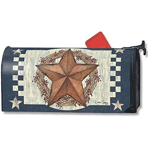 MailWraps Blue Barn Star Mailbox Cover 01339