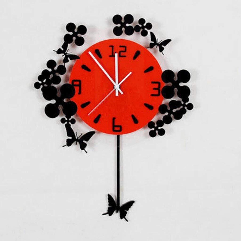 Amazon.com: YHEGV Wall Clocks Elegant Sala de Estar Reloj De pared Simple CAIL Mudoón Moderno Reloj fr OSCI Europeo Creativo Nature Deco Reloj (Color: B, ...