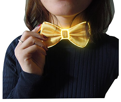 Feature Our light up tie have 10 different colors and two flashing mode for different lighting settings, just one click to choose your favorite color for one Glovion LED Bow Tie.  As a gift Our light up bow tie has a gift box package that ca...