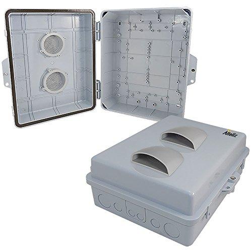 Altelix 14x11x5 Vented Polycarbonate + ABS Weatherproof Tamper Resistant NEMA Enclosure