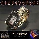 シーホープ ニキシー管 腕時計 nixie watch ハンドメイド 手作り レトロ クラシック ブラスメタル NX-BR-M