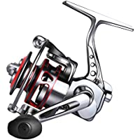 Goture Small Spinning Ice Fishing Reel Collapsible Handle...