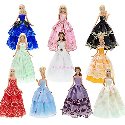 Ever After High Costumes Walmart (6x Handmade Wedding Dress Party Gown Clothes Outfits For Barbie Doll Random Gift)