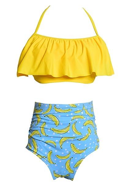 Dos Plátanos Piezas De Sujetador Conjuntos Impresión Bikini Mujeres Y6yf7bvg