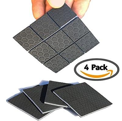 "SlipToGrip Furniture Gripper - Stop Slide - Multi Size 3""x3"" - Various Sizes - Pre-Scored - 3/8"" Felt Core - Anti Slip Rubber - No nails, No glue. Patent Pending."