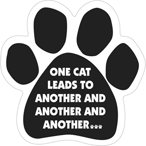 One Cat Leads To Another and Another And Another Paw Magnet