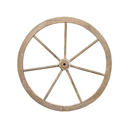 Amazoncom Darice 30021161 Wood Wagon Wheel Antiqued White 24 Inches