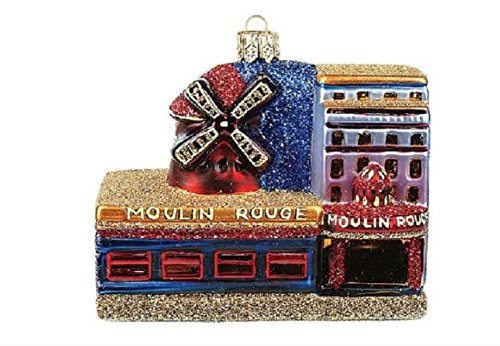 Moulin Rouge Paris Cabaret Paris France Polish Glass Christmas Ornament Souvenir Decoration