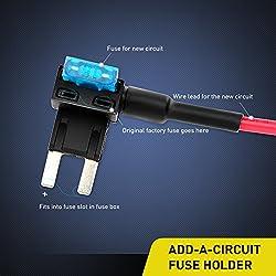 Nilight NI-FH02 Fuse Holder Add-a-circuit Fuse TAP