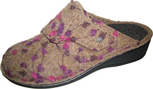 Finn Comfort - Zapatillas de estar por casa de Fieltro para mujer gris grau/Wollfilz 40