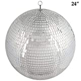 24'' Extra Silver Glass Mirror Disco Ball Ornaments Party Decorations Supplies