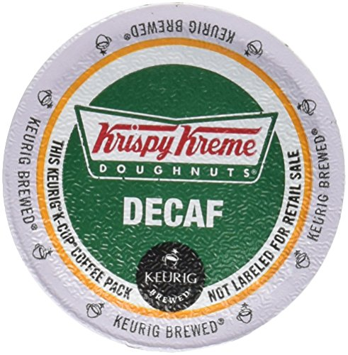 Krispy Kreme House Decaf Medium Roast Coffee K-Cups 24 COUNT (2PACKS) total 48 K-Cups (Smooth Coffee Cream)