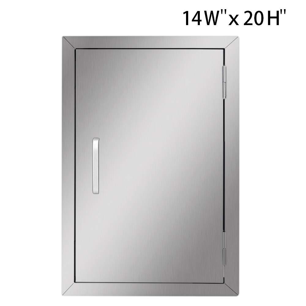 Seeutek Outdoor Kitchen Doors 14W x 20H Inch BBQ Access Door - Stainless Steel Single Wall Construction Vertical Door for Outdoor Kitchen Grilling Station or Commercial BBQ Island by Seeutek