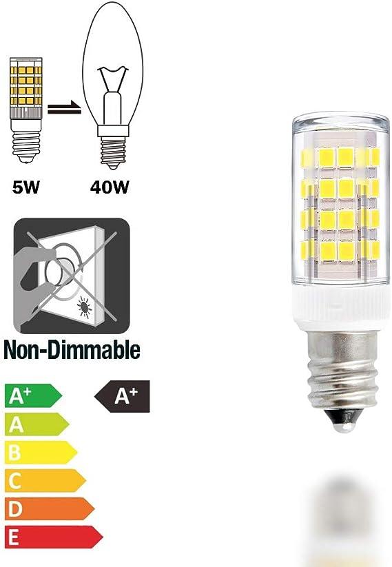 5w 25w SES Small Screw In E14 Energy Saving Spiral CFL Daylight 5600k Bulb x 10
