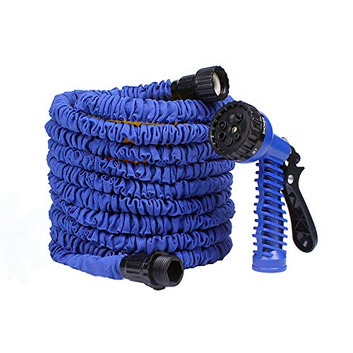 OLANZH Expandable Garden Hose Water Hose, 200FT High-Pressure Water Hose, Heavy Duty Flexible Hose 7 Function Spray Hose Nozzle for Watering Plants, Car Wash