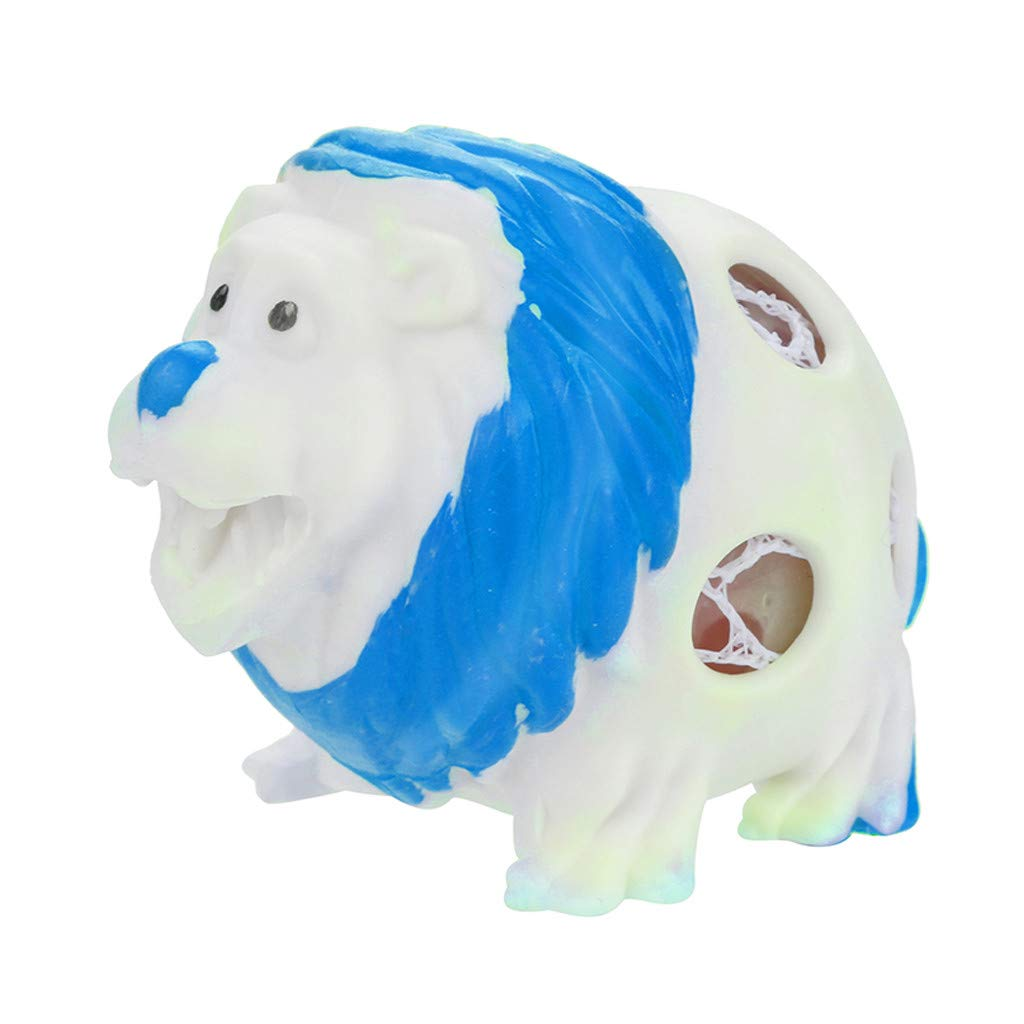 Jumbo Squishies Lion, Kawaii Cream Scented Squishies Slow Rising Kids Toys Doll Gift Fun Collection Stress Relief Hop Props Decorative Soft Cute Holiday Squishy Toys (Blue)