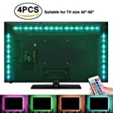 #4: Sunnest TV Backlight Light Kit, 6.56FT/2M 5V USB LED Lights Strips 5050 RGB Bias Lighting with Remote for HDTV Desktop PC Monitor Home Theater Kitchen Cabinets, Multi Color (40-60in)