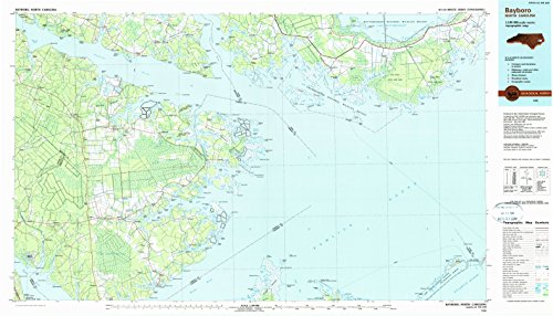 Rose Fork Oyster (Bayboro NC topo map, 1:100000 scale, 30 X 60 Minute, Historical, 1985, updated 1990, 24.1 x 42.1 IN - Tyvek)