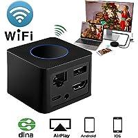 Wireless HDMI / AV Display Dongle, GOXMGO WiFi Portable 5G Gen HD 1080P Screen Mirroring Plug and Play Adapter HDMI / AV Dual Video WiFi Receiver, LAN Port Support DLAN Airplay
