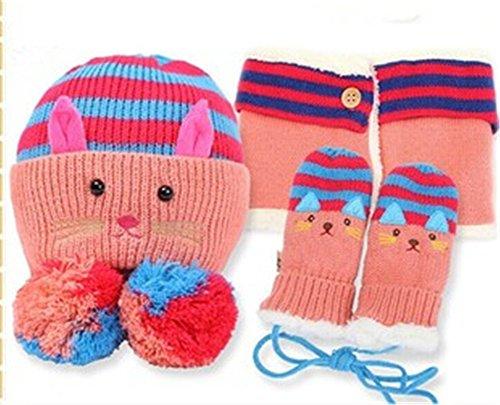 Winter Girls Gloves Knitted Mitten