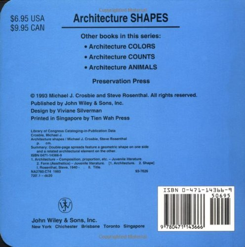 Architecture Shapes (Preservation Press) by John Wiley & Sons (Image #1)