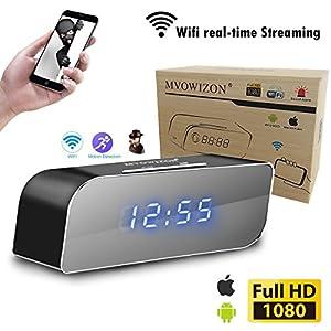 spy camera Alarm Clock with Camera HD WIFI Control Full HD 1080P Spy Camera Motion Detection Alarm Wireless IP Security Camera Nanny Cam Mini Cam …