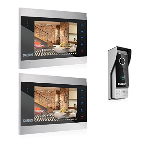 TMEZON 7 Inch TFT Color LCD Display Video Door Phone Visual Intercom Doorbell 1-Camera 2-Touch Screen IR Night - Doorbell Video Intercom Color