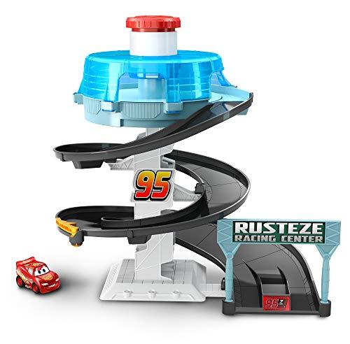 Disney Pixar Cars Mini Racers Rust-eze Spinning Raceway (Mattel Disney Pixar Cars 3 Mini Racers)