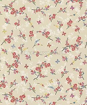 Holden Beige Fleur Papillon Fleurs Papier Peint Style Shabby Chic Motif  Floral Coloré