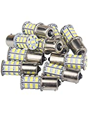 10 Pcs Extremely Bright 1156 1141 1003 1073 7506 BA15S LED Replacement Light Bulbs for Tail Backup Reverse Lights RV Indoor Lights 6000K Xenon White(12V DC)