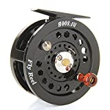 Cheap CY-Buity Black New Durable Practical Enhanced Nylon Fly Fishing Reels Reel Freshwater Loop Right Left Handed