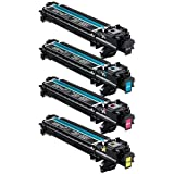 Do it Wiser Compatible Imaging Drum Unit Set Black Cyan Magenta Yellow For Konica Minolta Magicolor 4750 4750DN 4750EN - A0WG03F A0WG0KF A0WG0EF A0WG08F- 30,000 Pages