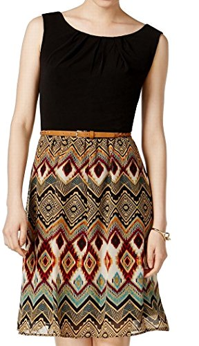 Connected Apparel Womens Petite Belted Shift ()