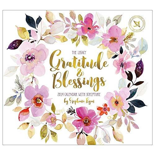 2019 Wall Calendar, Gratitude and Blessings - Blessing Calendar