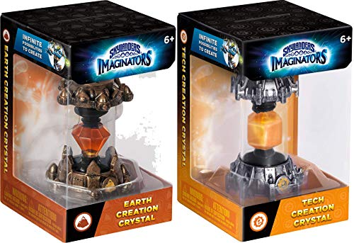 Earth and Tech Skylanders Imaginators Creation Crystal 2-Piece Bundle - Earth Rocket and Tech Armor Set (Ps3 Games Spongebob)