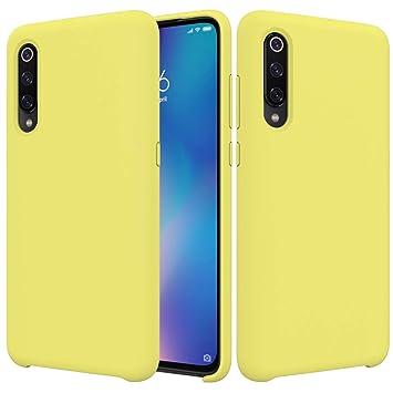 BestST Funda para Xiaomi Mi 9 SE,Funda Leather Case Xiaomi Mi 9 SE Carcasa Silicona Suave Colores del Caramelo con Superfino Pelusa ...