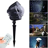 Ahyuan Halloween Christmas Landscape Projector Lamp Light with Moving Snowflakes Waterproof for Patio, Lawn and Garden Outdoor Indoor (Snowfall)