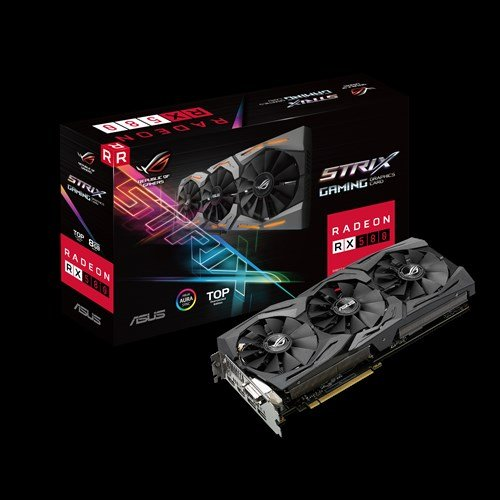 ASUS ROG Strix Radeon RX 580 T8G Gaming Top OC Edition GDDR5 DP HDMI DVI VR Ready AMD Graphics Card (ROG-STRIX-RX580-T8G-GAMING)