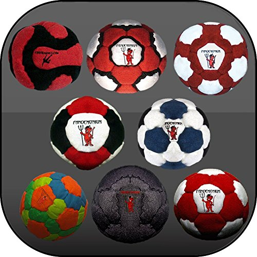 Collection of 8 Pro Footbags Hacky Sack Sand & Iron, Pellets & Iron and Full 100% Raw Iron, All Footbag Weighted At 2.1 Once by Pandemonium Footbag (Image #1)