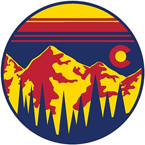 Colorado Stickers 3 Pack of 4 sunsetsticker34P UNAMEIT Colorado Sunset CO Forest Mountains Sticker