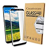 Galaxy S8 Screen Protector,Galaxy S8 Tempered Glass Protector,Creativecase [3D Full Curved Edge][Bubble-Free] HD Clear Glass Screen Protector for Samsung Galaxy S8