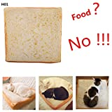 FYshun Pet's Bed Soft Quilted Cat Cushion Mat Creative Toast Slice Sleeping Playing Resting Bed for Small Pet Catty and Doggy 01