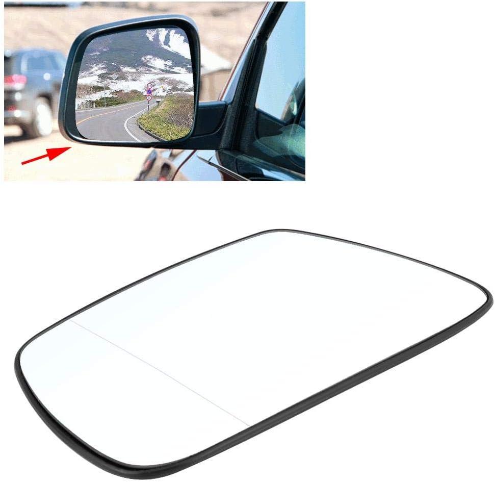 Retrovisor exterior de cristal de puerta de coche Delaman izquierda del lado del espejo de cristal climatizada Compatible con Jeep Grand Cherokee 2005-2010