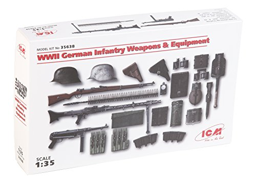 - ICM 1/35WWII Weapons and Equipment 035638, German Infantry Plastic Model Kit