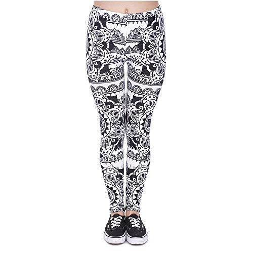 A Design Black Donne Nero Grazioso Yoga Leggings Vita Legins Pantaloni Nuove Donna Da Alta Di Moda Legging Print Mandala nz6xUSWF