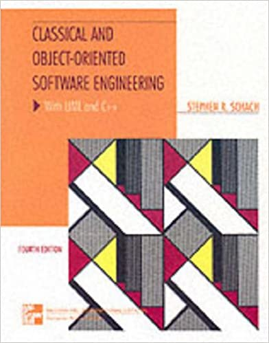Book Classical and Object-oriented Software Engineering: WITH UML AND C++ (McGraw-Hill International Editions: Computer Science Series)