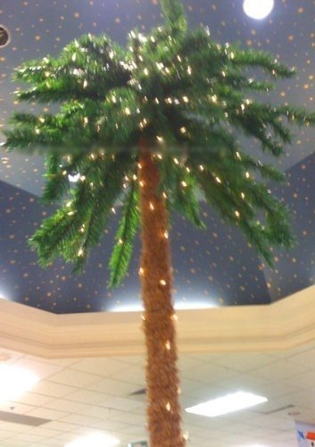 7 Foot Lighted Christmas Palm Tree [#6] - 300 Lights - Indoor / - Christmas Trees Palm